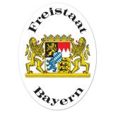 "Wanddeko ""Freistaat Bayern"" 41 cm"