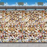 Wanddeko Großes Stadion 1,2 x 9,1 m