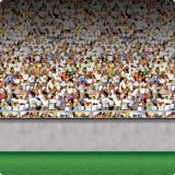 Wanddeko Großes Stadion Tribünen Unten 1,2 x 9,1 m