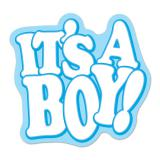 "Wanddeko ""It´s A Boy!"" 46 cm x 47 cm"