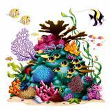 Wanddeko Korallenriff mit Fischen 160 cm 4-tlg.