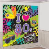 "Wanddeko ""Lovin' the 80s"" 165 x 165 cm 2-tlg."