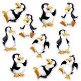 """Wanddeko """"Lustige Pinguine"""" 17 cm 10er Pack"""