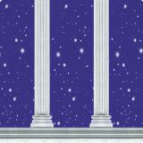 Wanddeko Säulengang mit Sternenhimmel 1,2 m x 9,1 m