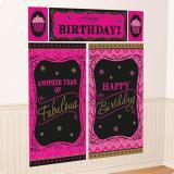 """Wanddeko-Set """"Fabulous Birthday""""  5-tlg."""