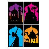 "Wanddeko Silhouetten ""Arabische Nächte"" 4er Pack"