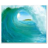 """Wanddeko """"Surfing Paradies"""" 183 cm"""