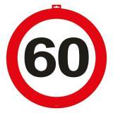 Wanddeko Verkehrsschild 60. Geburtstag 47 cm