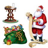 """Wanddeko """"Weihnachtsmann & Geschenke"""" 3-tlg. 157 cm"""
