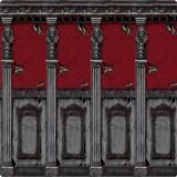 """XL Wanddeko """"Zimmerwand des gruseligen Herrenhauses"""" 2-tlg. 6 m"""