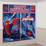 "Wanddeko ""Spiderman-Party"" 5-tlg."