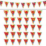 "Wimpel-Girlande ""Happy Birthday Bunte Ballons"" 10 m -18"