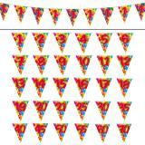 "Wimpel-Girlande ""Happy Birthday Bunte Ballons"" 10 m -30"