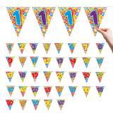 "Zahlen-Wimpel-Girlande ""Happy Crazy Birthday"" 6 m - 18"