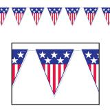 "Wimpel-Girlande ""Stars & Stripes"" 3,7 m"