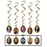 """Wirbel-Deckenhänger """"Amerikanische Präsidenten"""" 5-tlg."""