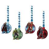 """Wirbel-Deckenhänger """"Avengers - Age of Ultron"""" 4er Pack"""