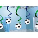 Wirbel-Deckenhänger Fußball 60 cm 5-tlg.