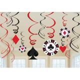 "Wirbel-Deckenhänger ""Las Vegas"" 12-tlg."