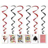 """Wirbel-Deckenhänger """"Pokerkarten"""" 102 cm 5er Pack"""