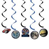 """Wirbel-Deckenhänger """"Space Shuttle und Planeten"""" Happy Birthday 5-tlg."""