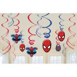 """Wirbel-Deckenhänger """"Spiderman Party"""" 6er Pack"""