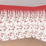 "XL Wanddeko ""Blutige Horror Wand"" 600 cm 2-tlg."