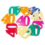 """XXL-Konfetti """"Bunter 40. Geburtstag"""" 12er Pack"""