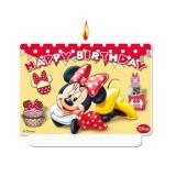 """Zahlenkerze """"Minnie Maus"""" Happy Birthday 7 x 9 cm"""