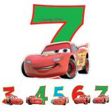 """Zahlenkerze """"Disney Cars"""" 6 cm"""