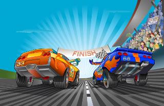 Kinder-Autorennen