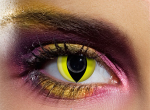 Gelb-schwarze Kontaktlinsen