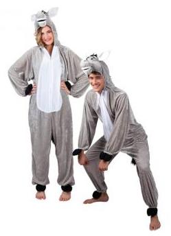 Kostüme für Erwachsene - Plüschkostüm Esel